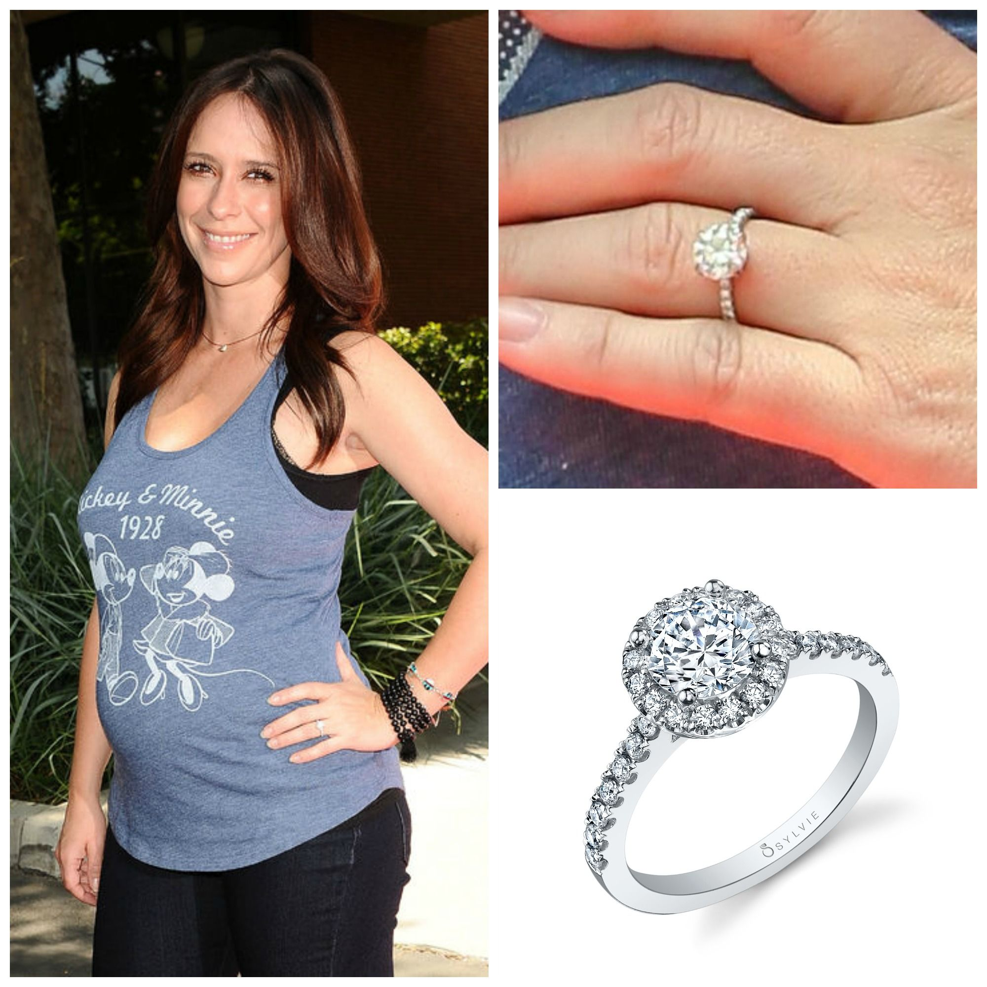 Mom To Be Jennifer Love Hewitt Has A Beautiful New Ring That Looks Lot Like Our Sylvie Round Brilliant Halo Sy999