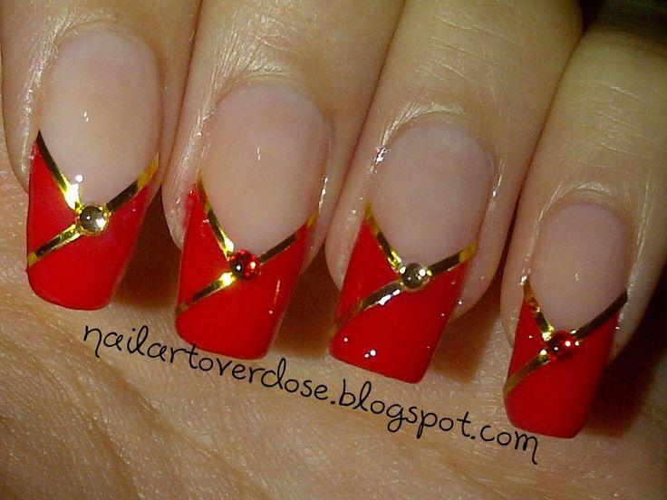 Pin By Charlene Bertolino On Hair Beauty New Years Nail Art Red Nail Designs Elegant Nail Designs