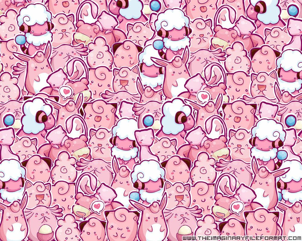 cute, kawaii, pink, pokemon, wallpaper inspiring picture on favim