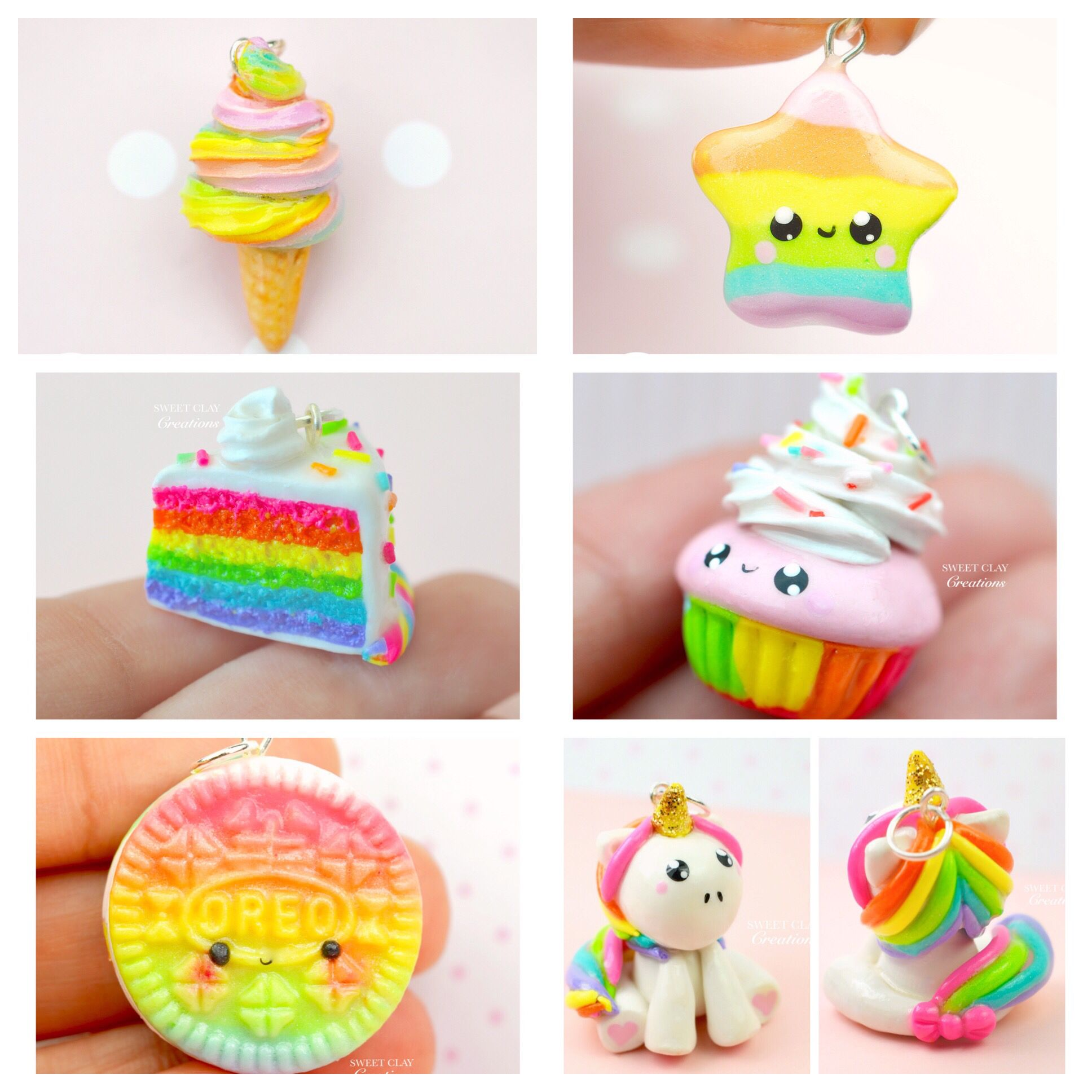 Rainbow Charms Ideas Out Of Polymer Clay Made By Sweet Clay