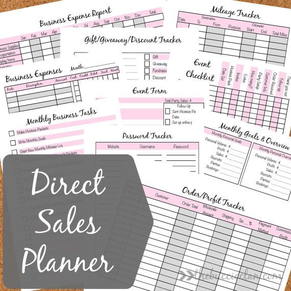 A5 Printable Direct Sales Planner by TheBuccioClan on Etsy ...