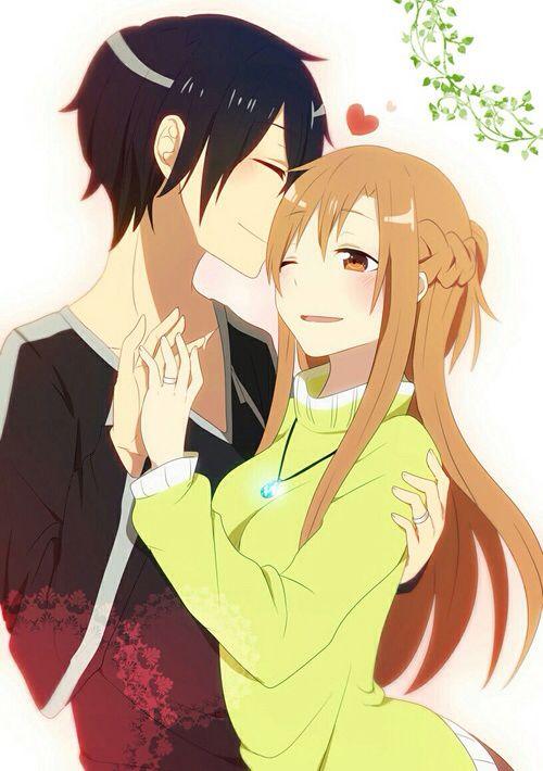 http://weheartit.com/entry/212495235 Kirito,Asuna,SAO,Sword Art Online,Love