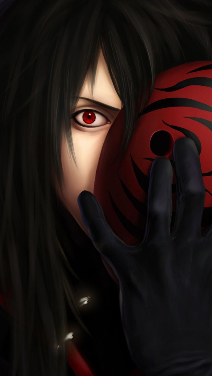 720x1280 Wallpaper Naruto Uchiha Madara Sharingan Man