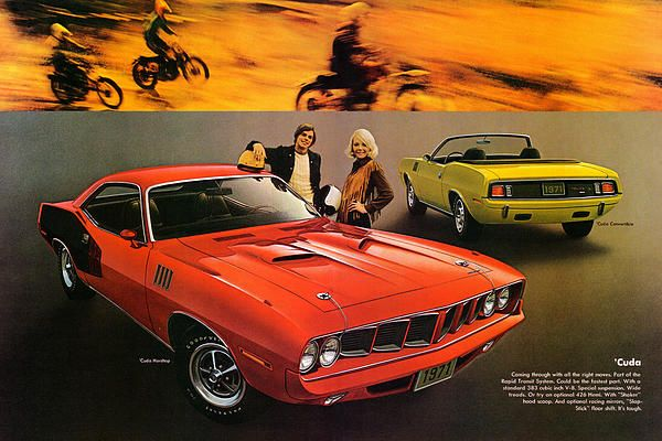 1971 plymouth barracuda ad poster awesome classic muscle car ads rh pinterest com