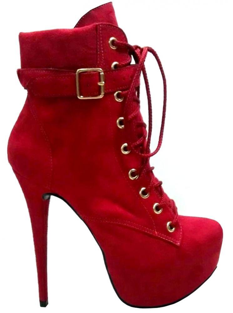 931a50edfb Victor Vicenzza - Ankle Boot Vermelha Beatrice Sapatos Lindos, Sapatos  Sandálias, Sapatos Femininos,