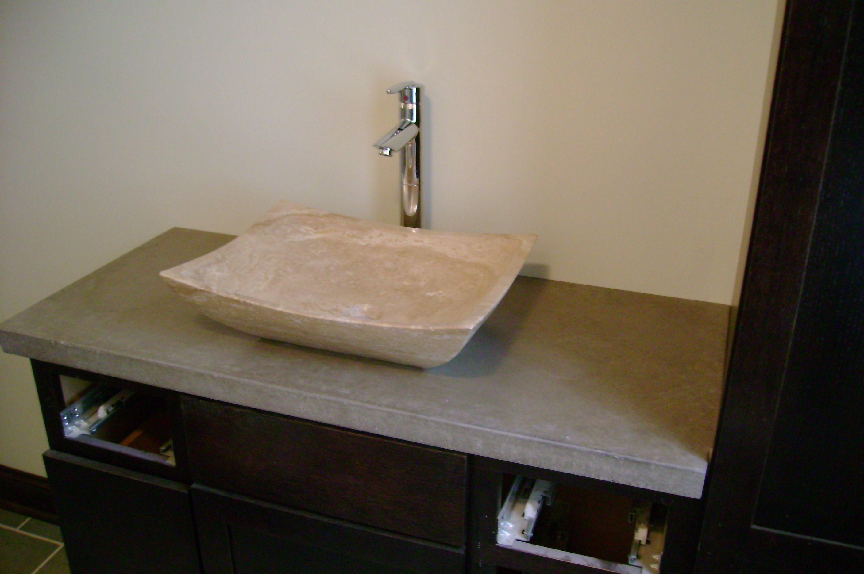 concrete countertop bathroom vanity natural concrete rh pinterest com