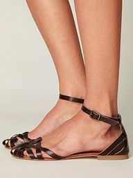 Strappy Lex Leather Sandal at ShoeSaleToday.com