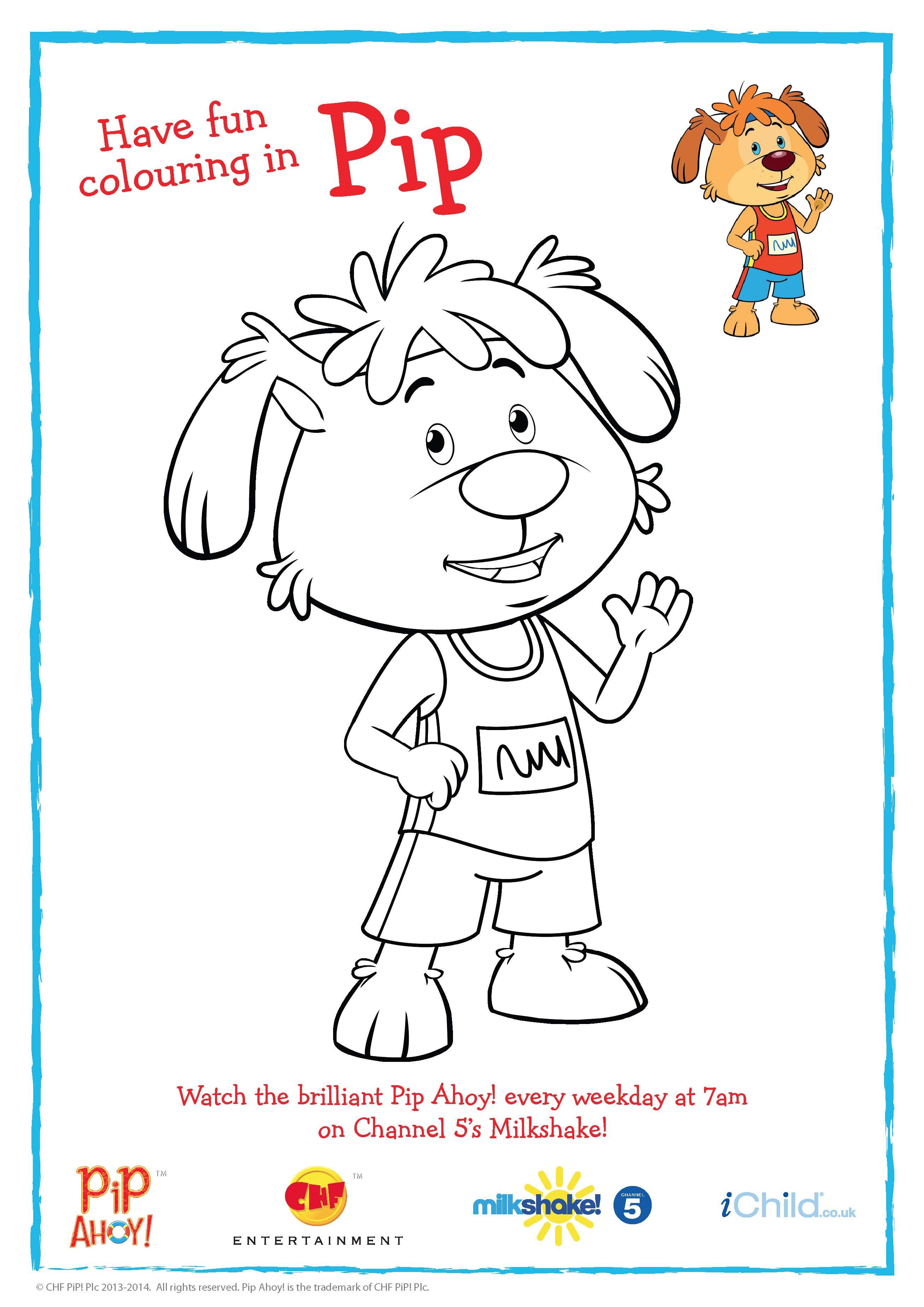 Pip Colouring In Activity Sheet To Celebrate The