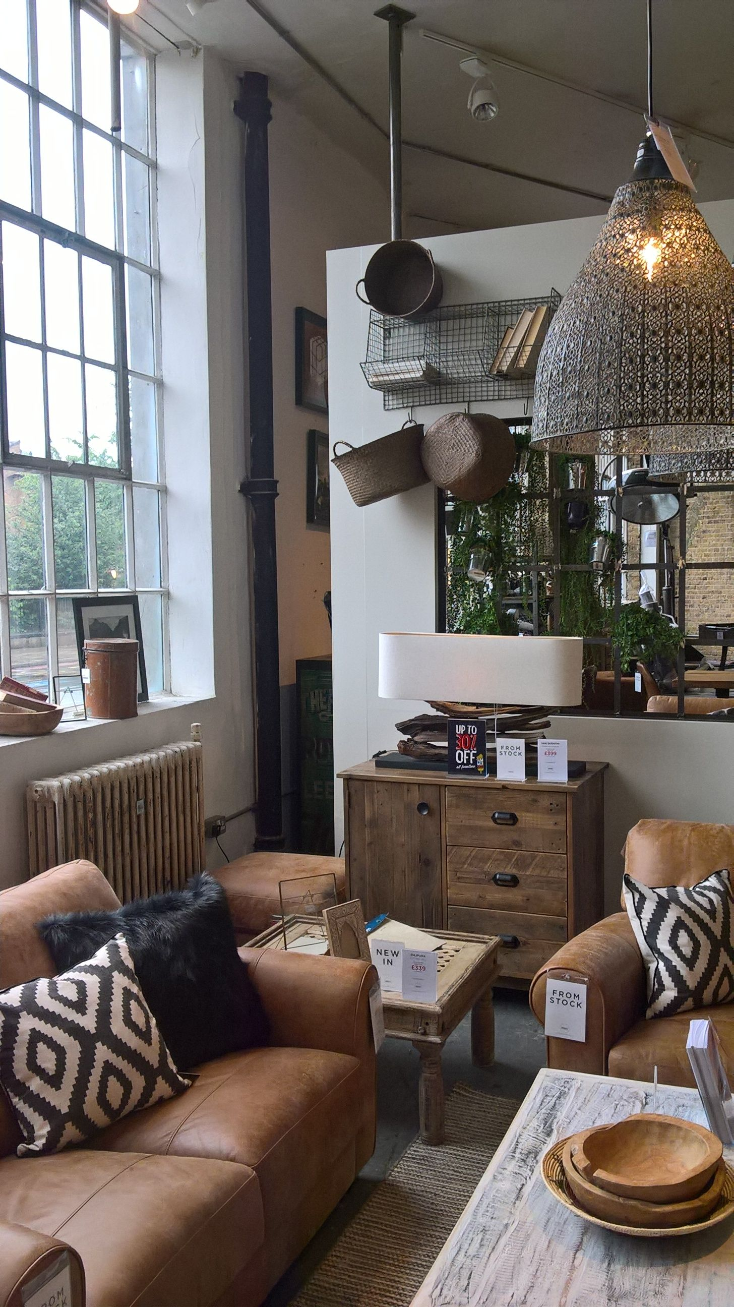 a sneak peak at some new furniture displays in our london battersea
