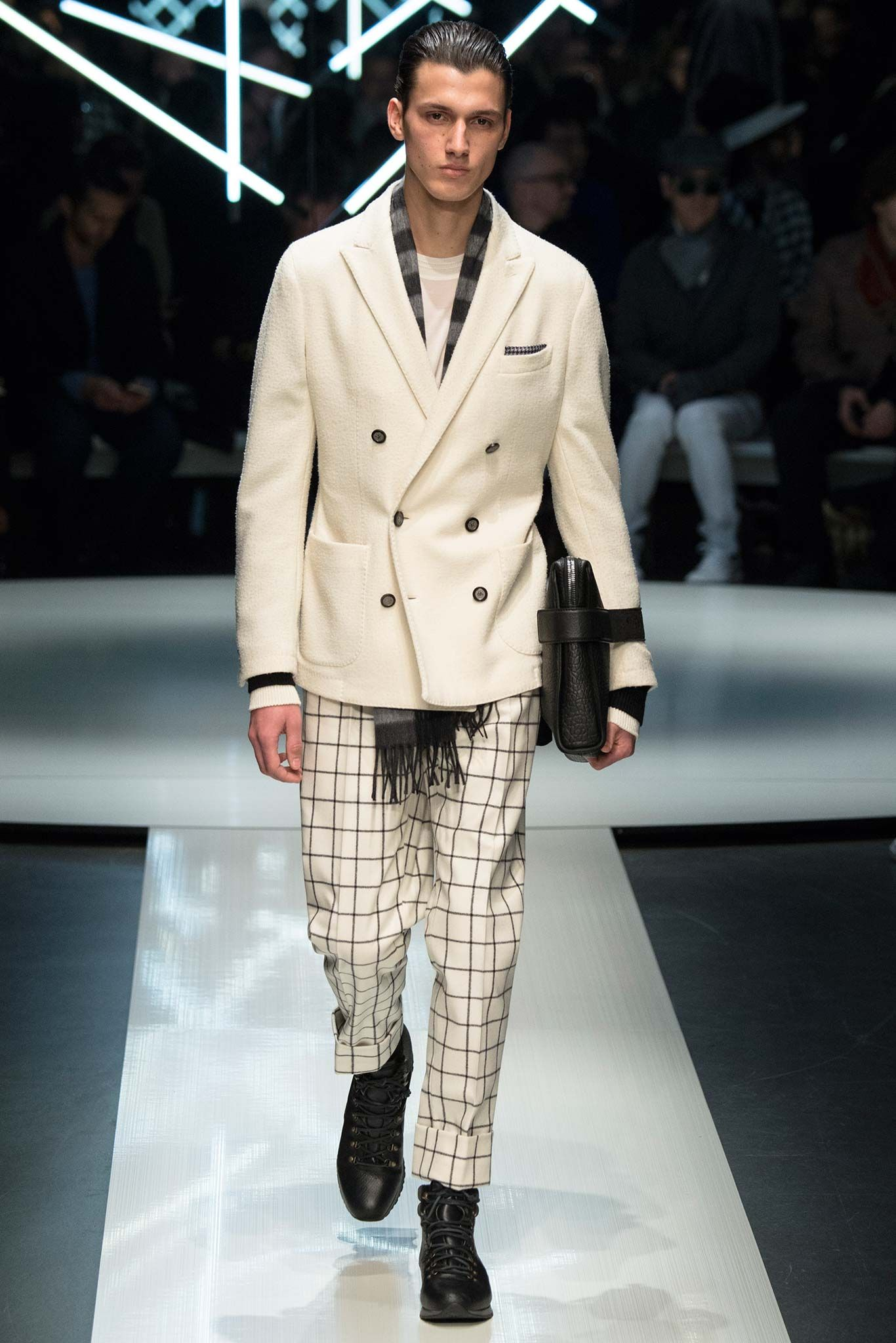 I love the slightly eccentric silhouettes from Canali Fall 2015 Menswear - Collection - Gallery - Style.com