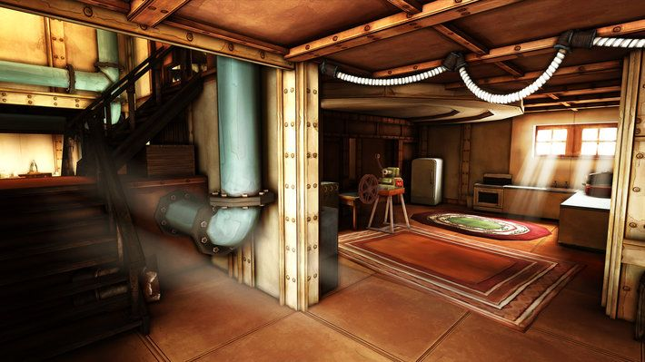 Ether One - FP Adventure Indoors, underground bunker environment, brightly lit, largely populated with industrial props  http://www.gog.com/game/ether_one_deluxe_edition (2014)