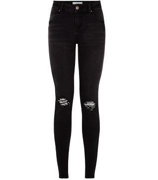 Räumungspreise toller Rabatt für bieten Rabatte Schwarze Skinny-Jeans mit Rissen am Knie | Shopaholic ...