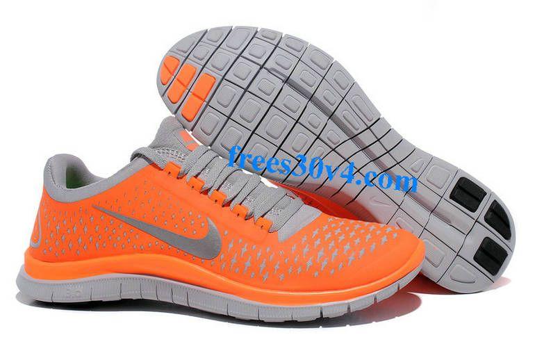 Total Orange Reflect Silver Wolf Grey Nike Free 3.0 V4 Men's Running Shoes #Orange #Womens #Sneakers