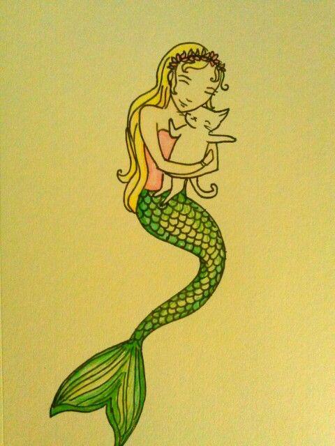 Mermaid and cat