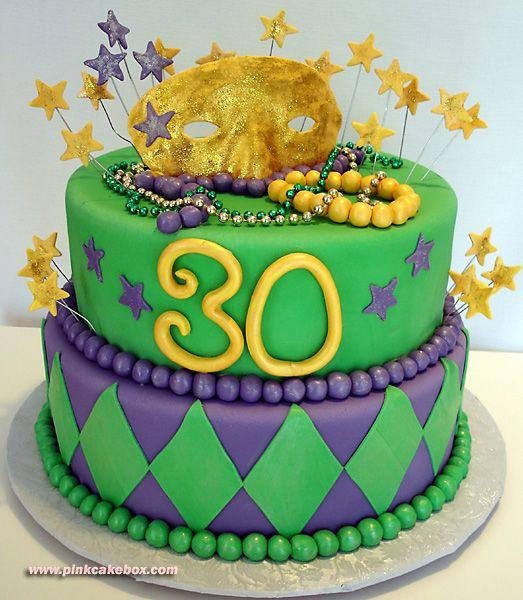 Mardi Gras 30th Birthday Cake » Birthday Cakes