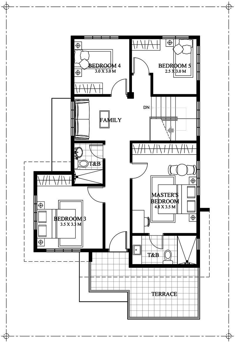 Elegant Six Bedrooms Double Storey House Plan Amazing Architecture Magazine Double Storey House Plans Double Storey House Beautiful House Plans