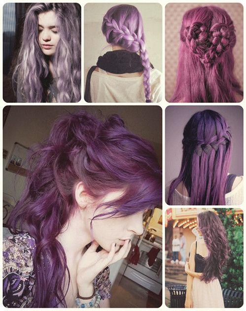 5 welcome sweet theme party hairstyles for long hair violet purple and violet hair color for long hair with cheap clip in hair extensions pmusecretfo Image collections