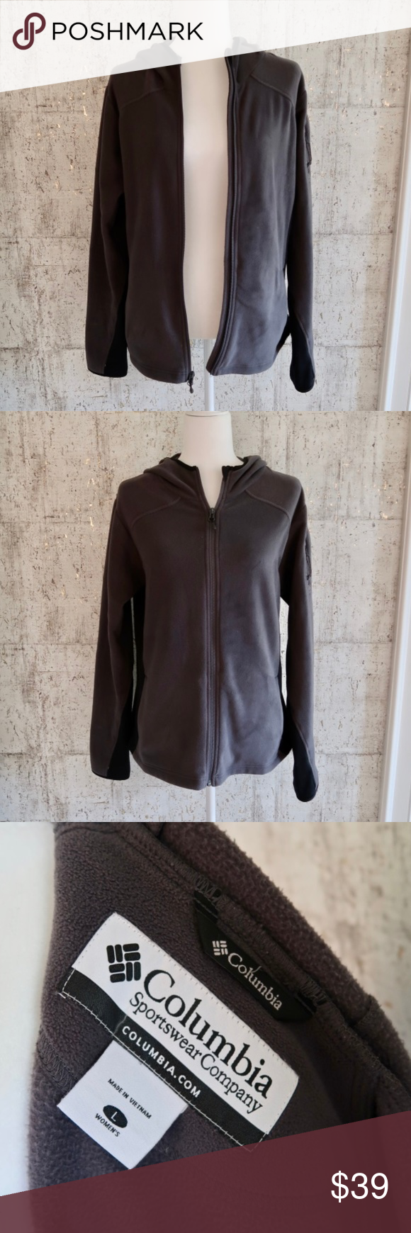 Working at Home,Ladies Full Zip Fleece with Pocket coworking Space S