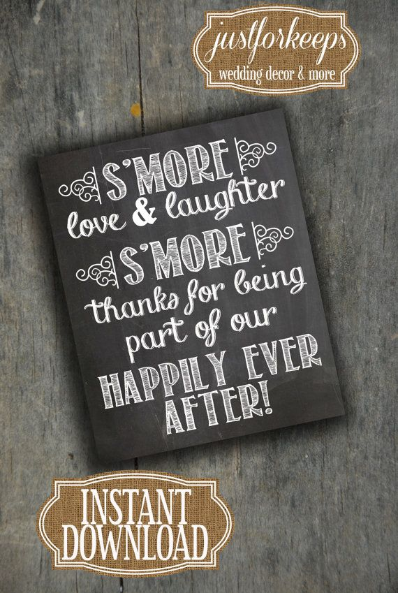 Wedding Favors Sign Chalkboard Printable PDF by