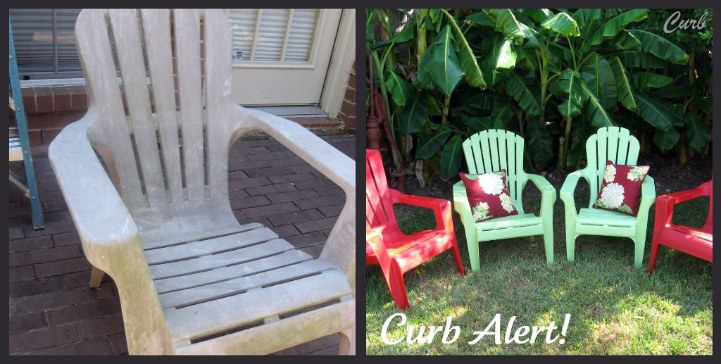 quick and easy paint job on curbside chairs krylon indoor outdoor rh pinterest com