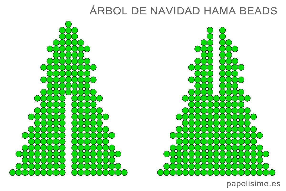 christmas-tree-hama-beads-arbol-de-navidad | Papelisimo | Pinterest ...