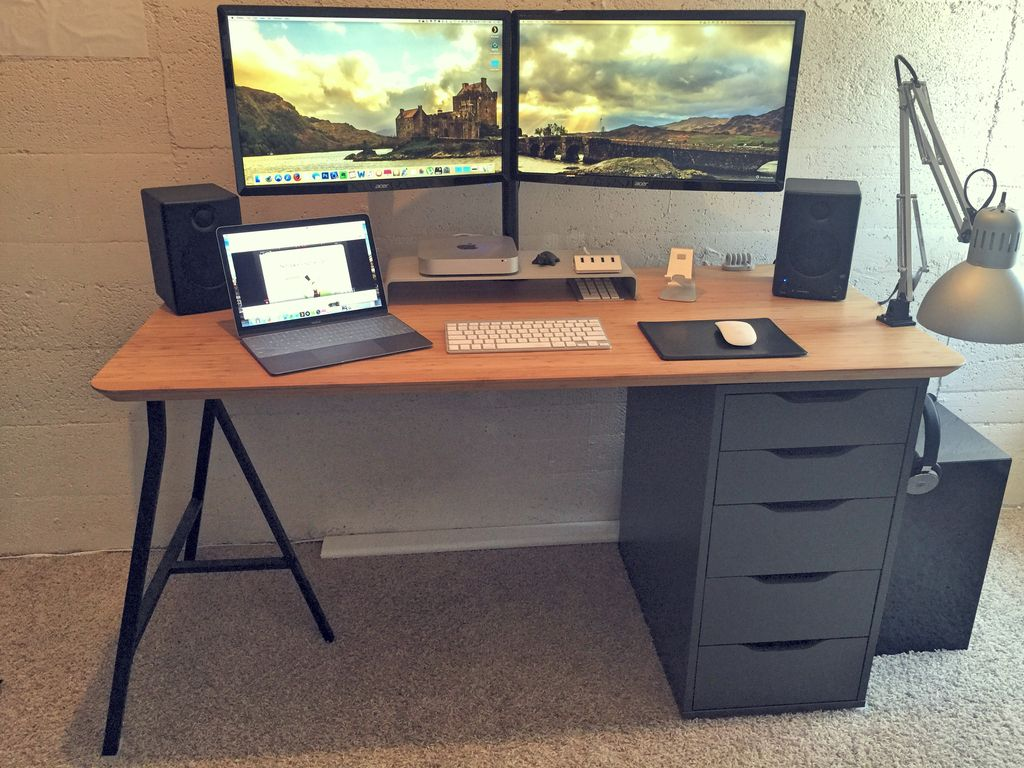 Kenton Bruno Uploaded This Image To Desk Setup See The Album On Photobucket Ikea Alex Desk Ikea Office Desk Setup