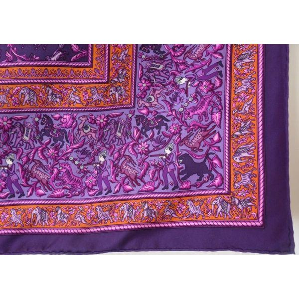 007e03c771fb carré hermès,foulard soie,chasse en inde,duchene, hermès silk scarf ...