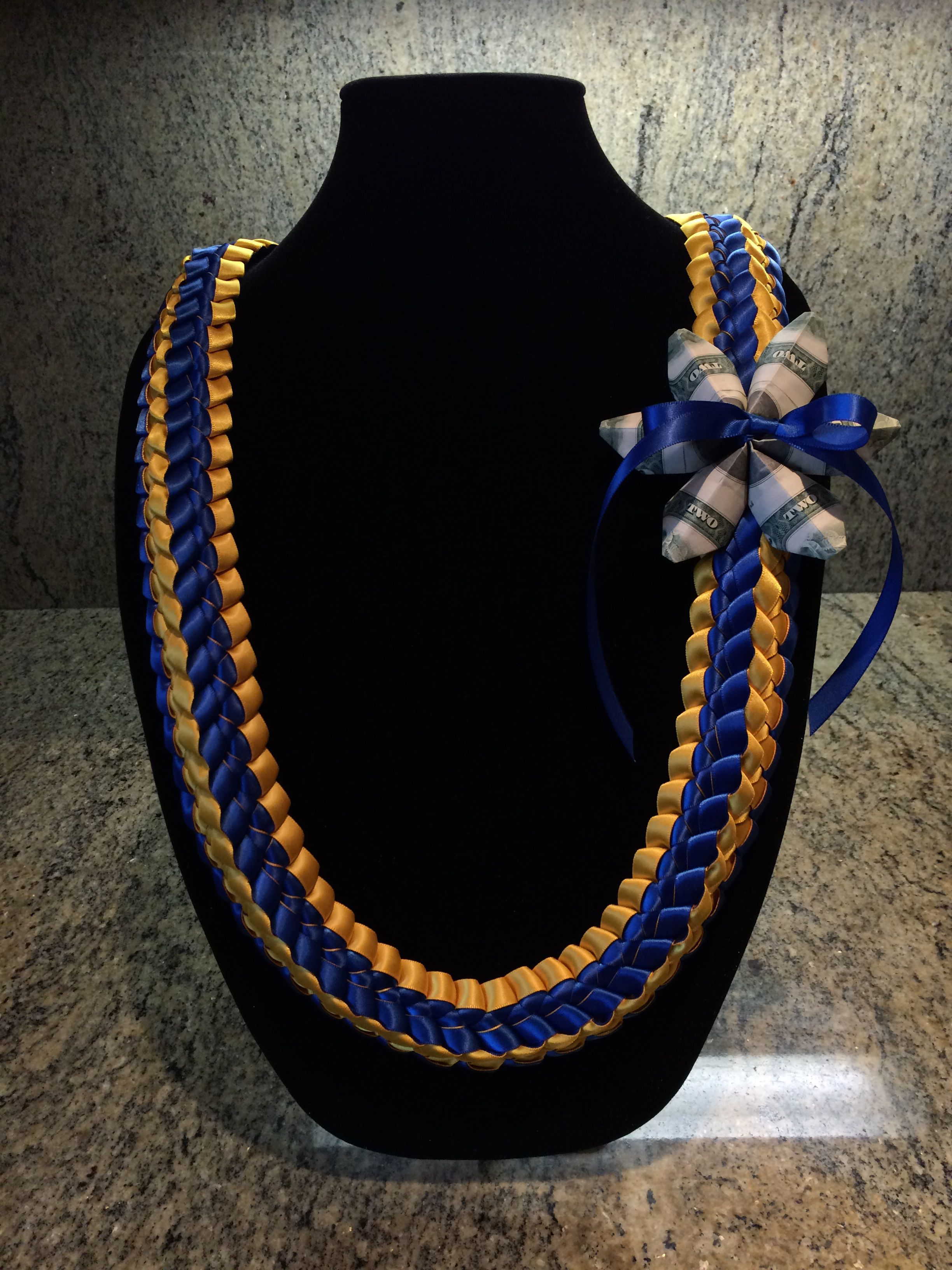 how to make graduation leis double ribbon