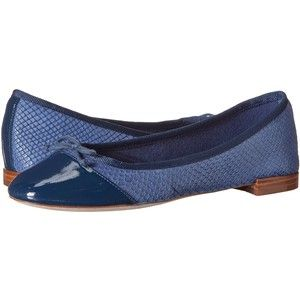 Womens Shoes Cole Haan Sarina Ballet Washed Indigo Snake Embossed/Patent