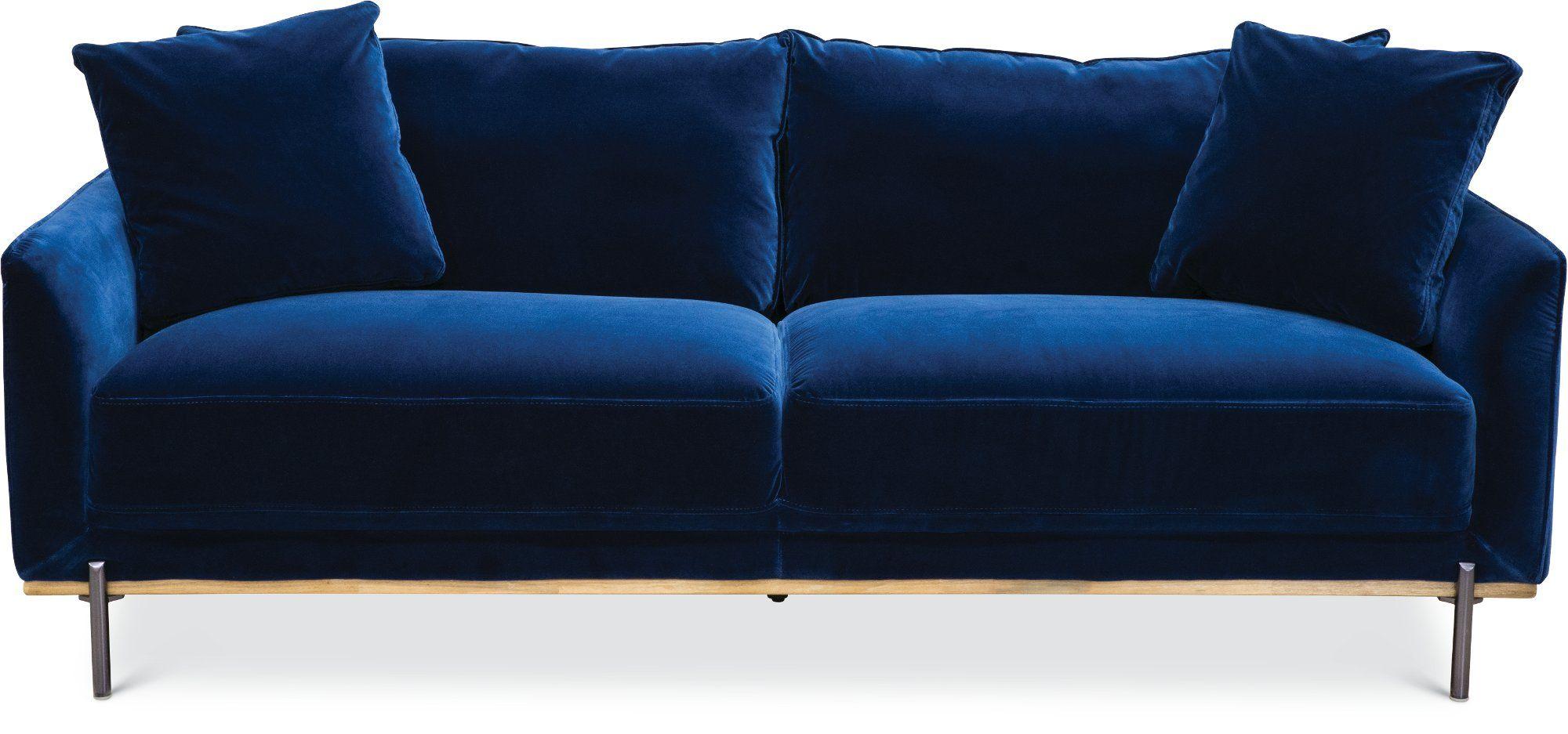 Modern Royal Blue Velvet Sofa Marseille Rc Willey Furniture Store Blue Velvet Sofa Blue Sofa Velvet Sofa