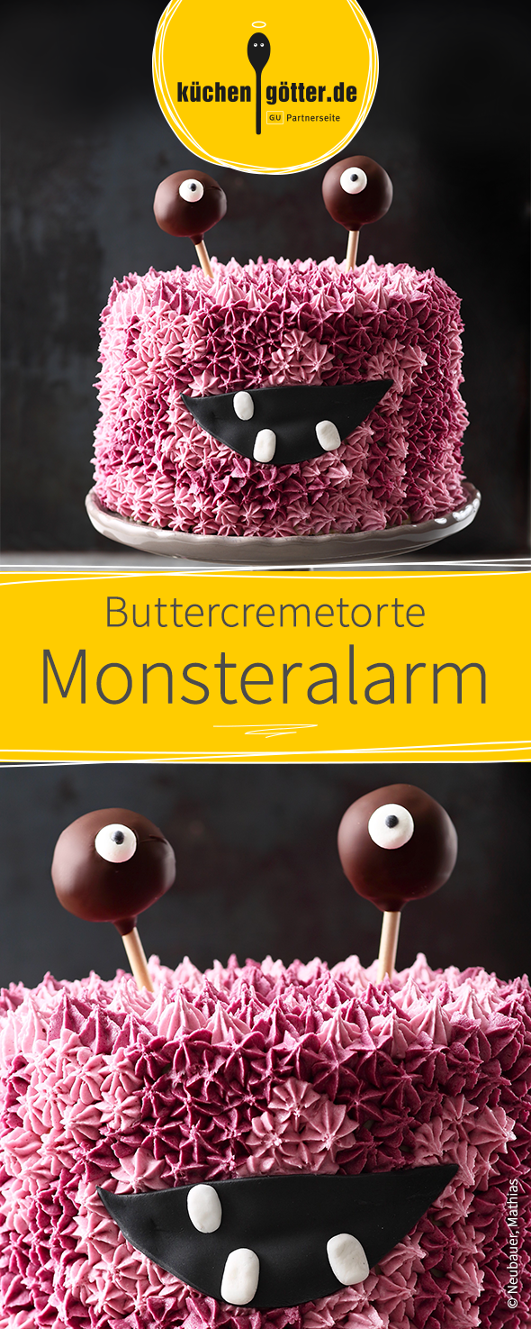 Rezept Fur Lustige Buttercremetorte In Monster Optik Perfekt Kindergeburtstage Birthday Parties