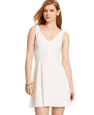 Marilyn Monroe Juniors' Textured Bustier Dress