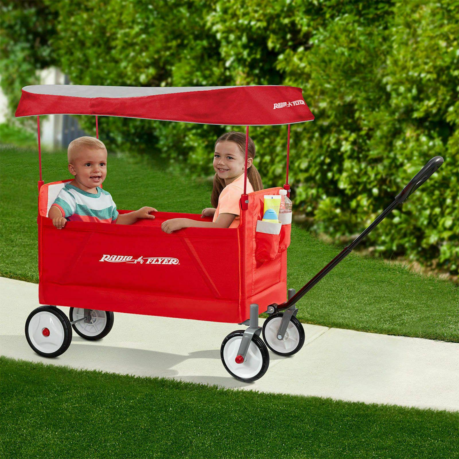 Radio Flyer EZ Folding 2 Kids Childrens Ride On Wagon