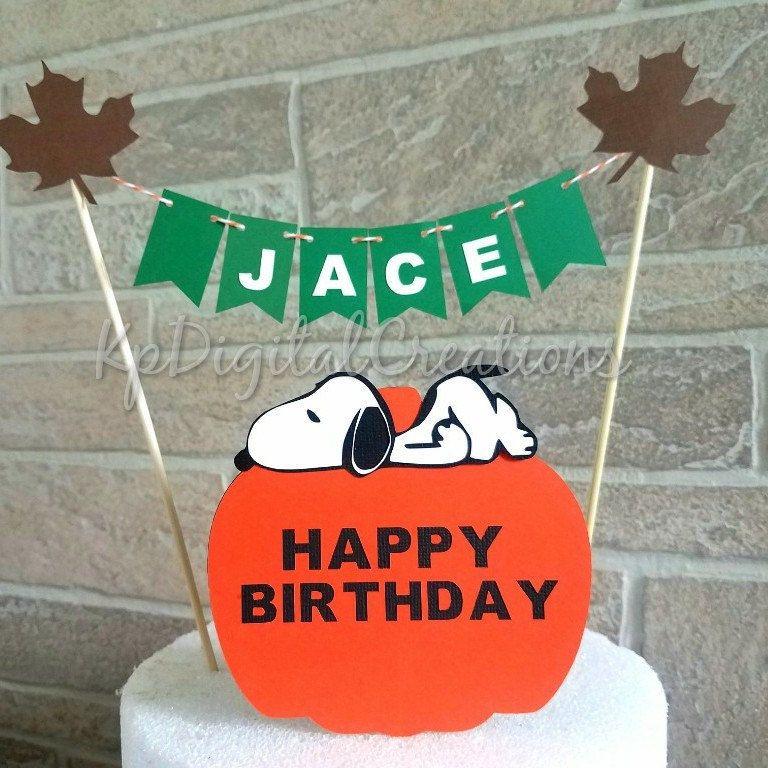 The great pumpkin Charlie Brown birthday cake topper pumpkin cake
