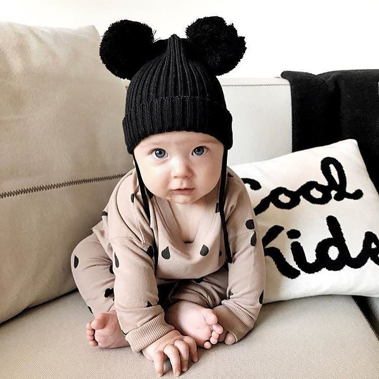 Mini Rodini Black Ears Hat Also Available In Baby Blue
