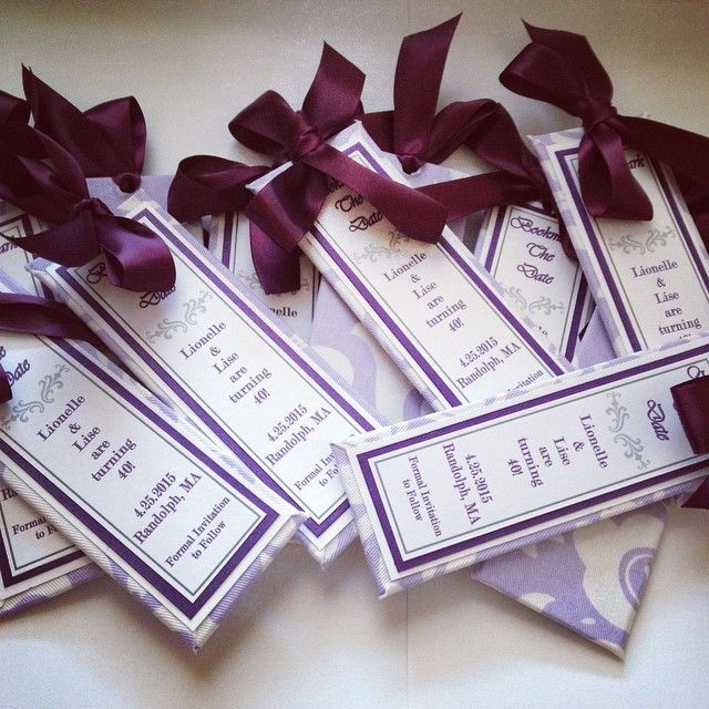 """Mailed my """"SAVE THE DATE"""" bookmarkers for a 40th birthday bash for next year today to a client. I realized my bookmarkers can not only be for weddings, but birthdays, bridal showers and confirmations!..."""