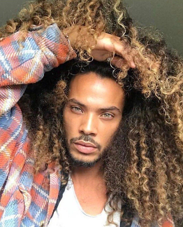 Pin By Femiio On Hiseyes Long Curly Hair Men Super Curly Hair Long Hair Styles Men