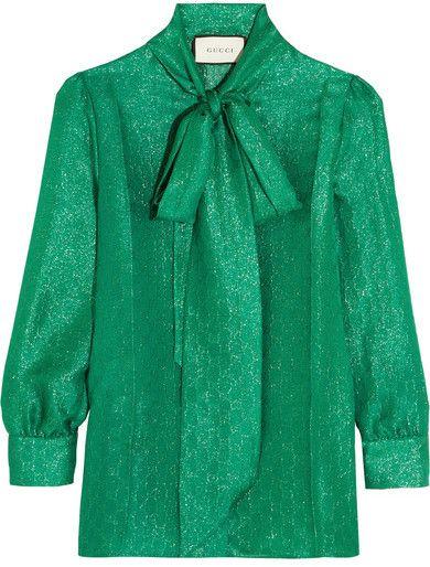 a3fb88756e1967 Gucci | RACHEL ZOE STYLE | Blouse, Gucci shirts, Metallic blouses