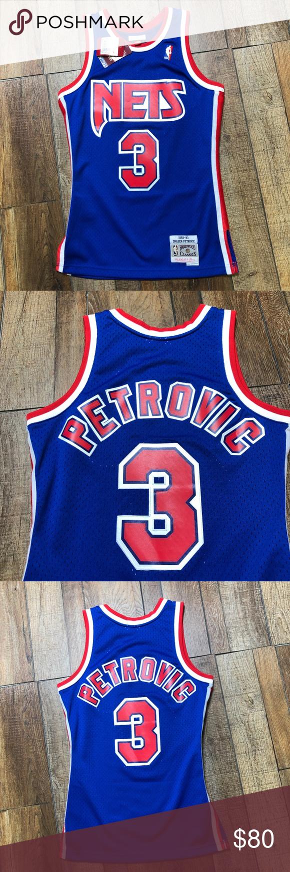 NWT Drazen Petrovic New Jersey Nets NBA Jersey NEW Brand New