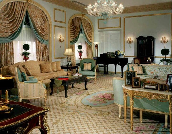 Waldorf Astoria Nyc Art Deco Hotel Elegant Living Room Home