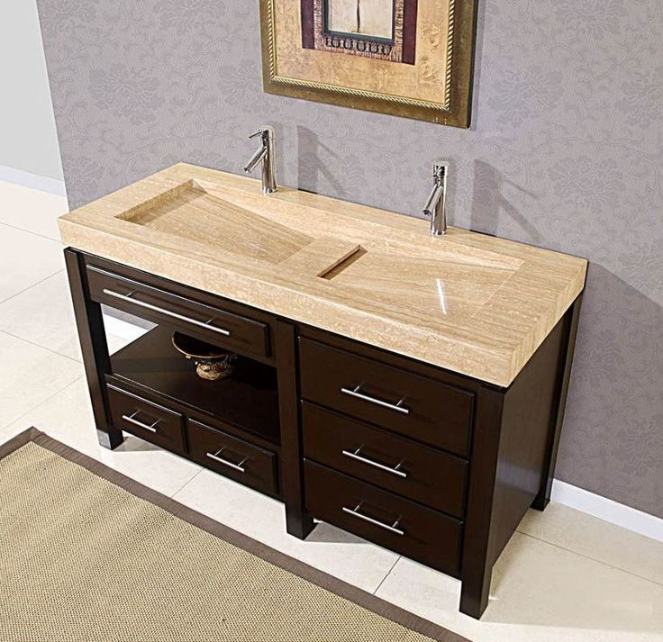 Undermount Double Faucet Trough Sink Bathroom Found On Bathroomizea Master Pinterest Sinks