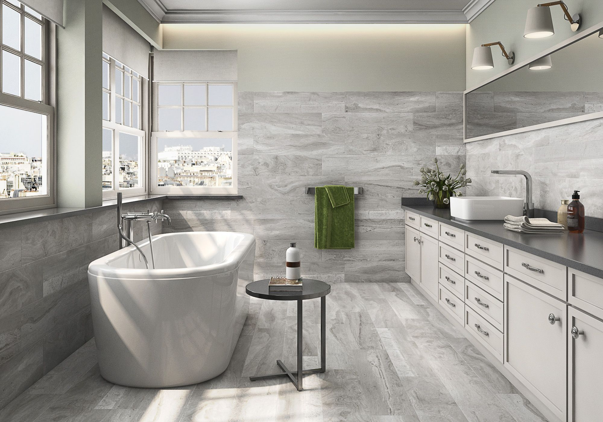Fossil graphite glazed porcelain by roca httprocatilegroup roca tile x fossil graphite dailygadgetfo Images