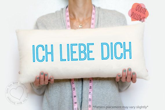 Traditional German Wedding Gifts: Personalized Cotton Gifts And More. I Love You German