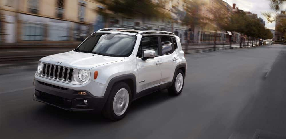2018 Jeep Renegade Gallery Exterior Limited White Driving With
