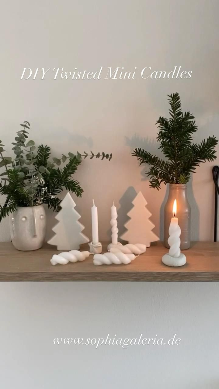 DIY Twisted Mini Candles