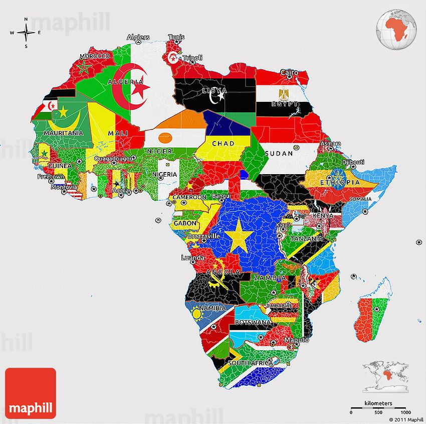 Flag 3D Map of Africa | games | Africa map, Map, Africa