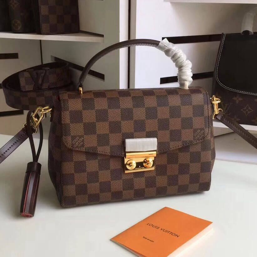 5e770c6177c6 Louis Vuitton Damier Ebene Canvas Croisette Bag N53000