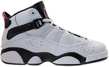 cf174cdec783 Girls  Little Kids  Air Jordan 6 Rings Basketball Shoes