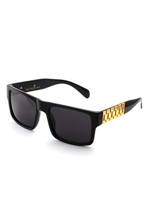 3859b6400dd Black Frame Gold Link Hip Hop Sunglasses by King Ice