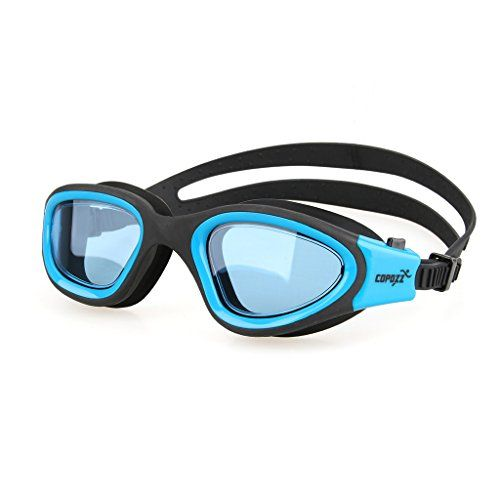 1ba96695c0d8 Swim Goggles COPOZZ G3720 Mirrored Crystal Clear Swimming Goggles Wide View  No Leaking Anti Fog UV